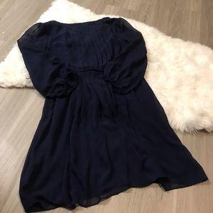 Jessica Simpson Dresses - Jessica Simpson Navy Long Sleeve Dress Size 6